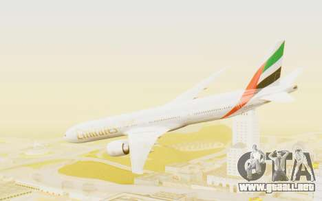 Boeing 777-300ER Emirates para GTA San Andreas left
