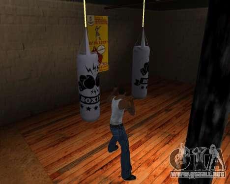 Pera De Boxeo para GTA San Andreas quinta pantalla