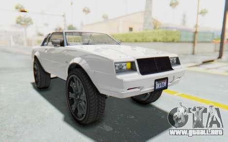 GTA 5 Willard Faction Custom Donk v2 para la visión correcta GTA San Andreas