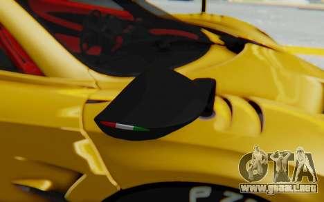 Pagani Huayra BC 2016 para GTA San Andreas vista hacia atrás