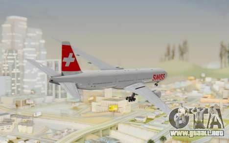 Boeing 777-300ER Swiss Global Air Lines para GTA San Andreas left