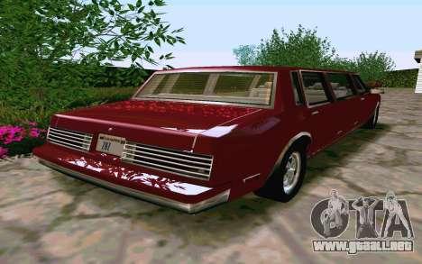 Tahoma Limousine v2.0 (HD) para la visión correcta GTA San Andreas