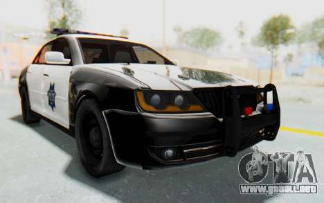 ASYM Desanne XT Pursuit v2 para la visión correcta GTA San Andreas