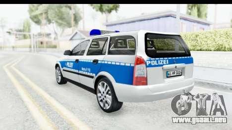 Opel Astra G Variant Polizei Hessen para GTA San Andreas left
