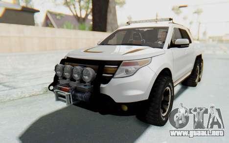 Ford Explorer Pickup para la visión correcta GTA San Andreas