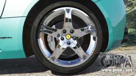 GTA 5 Ferrari California Autovista [add-on] vista lateral trasera derecha