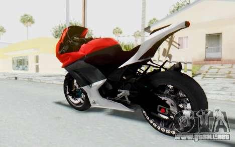 Kawasaki Ninja 250R Superbike para GTA San Andreas left