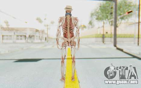 Skeleton with Hat and Glasses para GTA San Andreas tercera pantalla