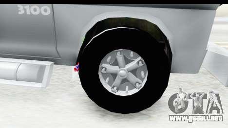 Chevrolet 3100 Diesel v2 para GTA San Andreas vista hacia atrás