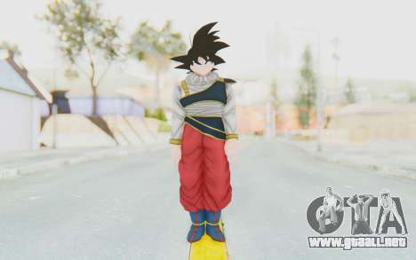 Dragon Ball Xenoverse Goku Yardrat Clothes para GTA San Andreas segunda pantalla
