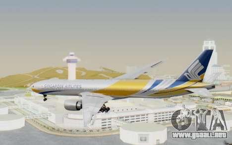 Boeing 777-300ER Singapore Airlines v2 para la visión correcta GTA San Andreas