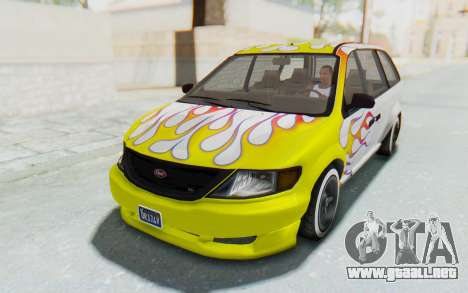 GTA 5 Vapid Minivan Custom without Hydro para el motor de GTA San Andreas