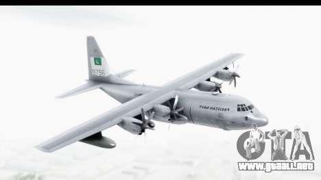 C-130 Pakistan para GTA San Andreas vista posterior izquierda