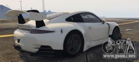 GTA 5 Porsche RUF RGT-8 GT3 vista lateral izquierda
