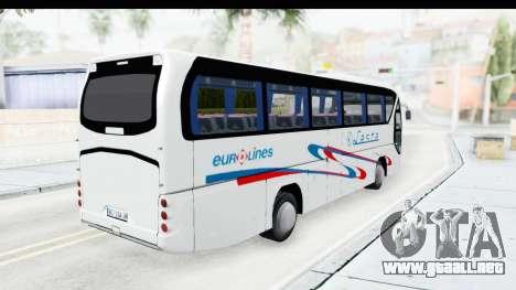 Neoplan Lasta Bus para GTA San Andreas vista posterior izquierda