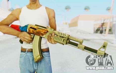 AK-47A1 Russian Flag para GTA San Andreas