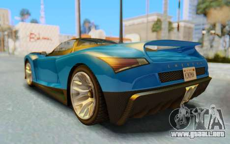 GTA 5 Grotti Cheetah SA Lights para vista inferior GTA San Andreas