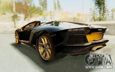 Lamborghini Aventador LP700-4 Light Tune para GTA San Andreas left