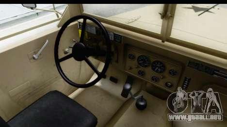 AM General M35A2 Sand para visión interna GTA San Andreas