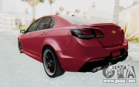 Chevrolet Super Sport 2014 para GTA San Andreas vista posterior izquierda
