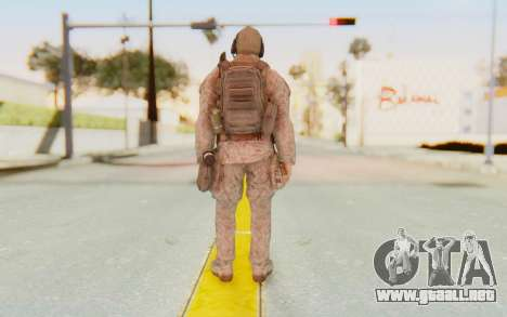 CoD MW2 Ghost Model v2 para GTA San Andreas tercera pantalla