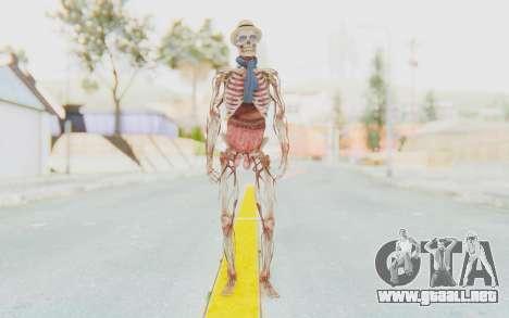 Skeleton with Hat and Glasses para GTA San Andreas segunda pantalla