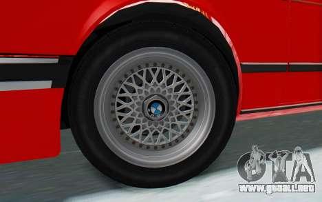 BMW M635 CSi (E24) 1984 IVF PJ2 para la visión correcta GTA San Andreas