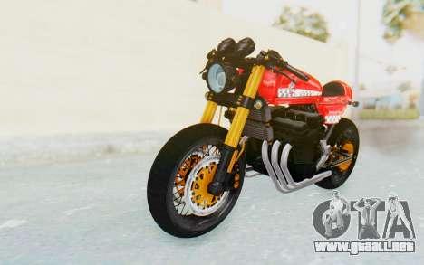 Honda CB750 Moge Cafe Racer para GTA San Andreas vista posterior izquierda