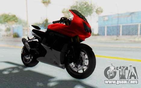 Kawasaki Ninja 250R Superbike para la visión correcta GTA San Andreas