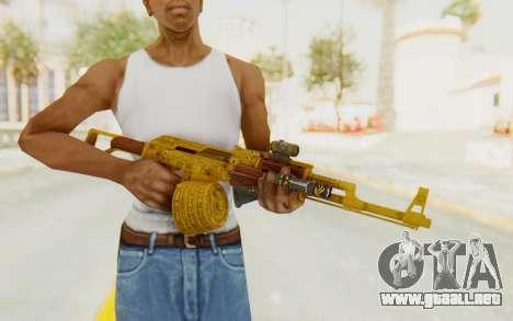 GTA 5 DLC Finance and Felony - Assault Rifle para GTA San Andreas tercera pantalla