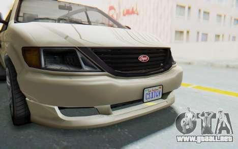 GTA 5 Vapid Minivan IVF para visión interna GTA San Andreas