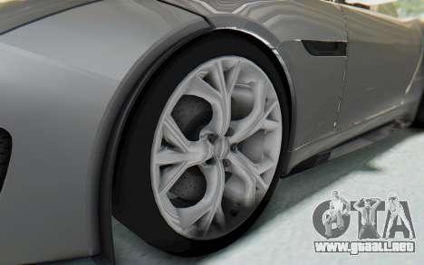 Jaguar F-Type Project 7 para GTA San Andreas vista hacia atrás