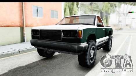 Yosemite Truck para GTA San Andreas vista posterior izquierda
