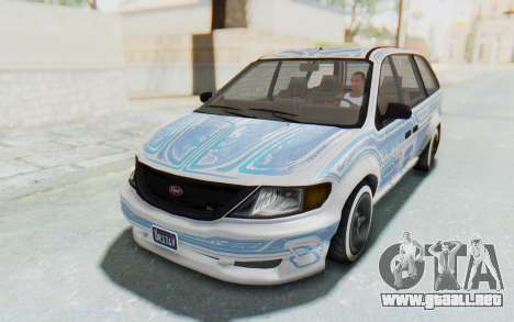 GTA 5 Vapid Minivan Custom without Hydro para vista lateral GTA San Andreas
