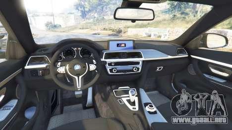 GTA 5 BMW M4 2015 v0.01 vista lateral derecha