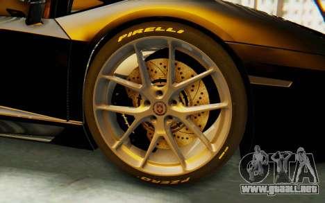 Lamborghini Aventador LP700-4 Light Tune para GTA San Andreas vista hacia atrás