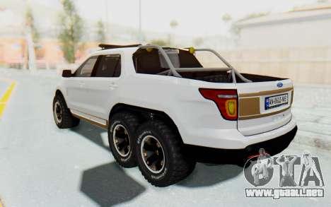 Ford Explorer Pickup para GTA San Andreas vista posterior izquierda
