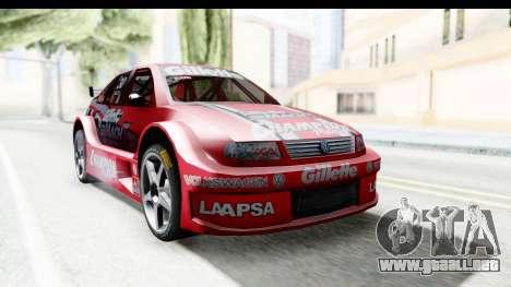 Volkswagen Polo TC2000 Temporada 2005(06) para GTA San Andreas vista posterior izquierda