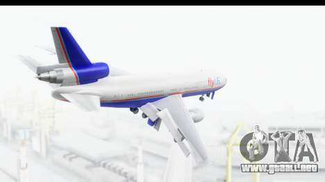 DC-10 Fly Us para la visión correcta GTA San Andreas