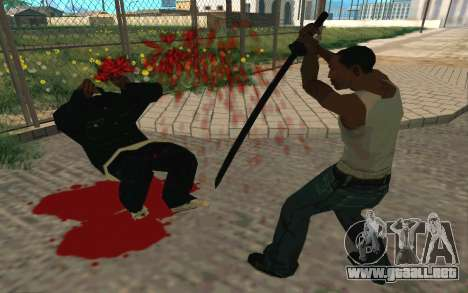 Sword of Blades para GTA San Andreas sexta pantalla