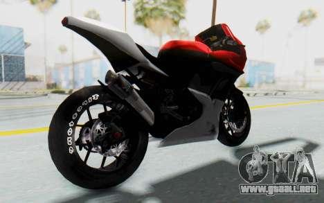 Kawasaki Ninja 250R Superbike para GTA San Andreas vista posterior izquierda