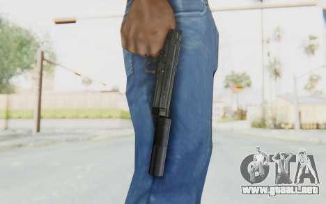 Tariq Iraqi Pistol Back v1 Black Silenced para GTA San Andreas tercera pantalla