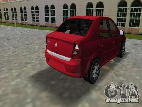 Renault Logan para GTA Vice City left