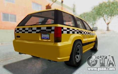 Canis Seminole Taxi para GTA San Andreas left