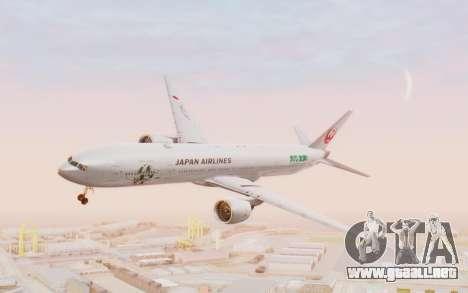 Boeing 777-300ER Japan Airlines v1 para GTA San Andreas vista posterior izquierda