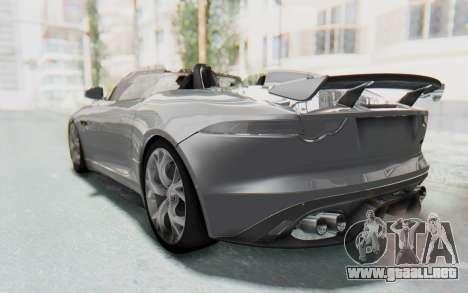 Jaguar F-Type Project 7 para la visión correcta GTA San Andreas
