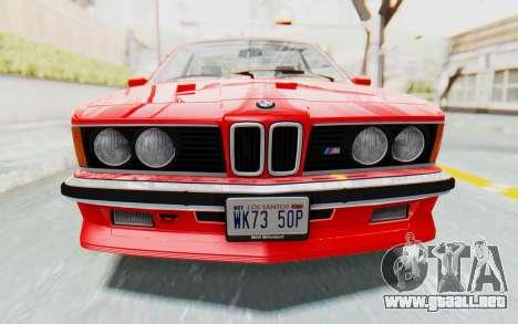BMW M635 CSi (E24) 1984 IVF PJ2 para visión interna GTA San Andreas