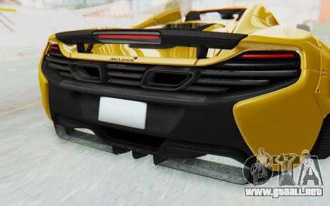 McLaren 650S Spyder ZenWorks para la vista superior GTA San Andreas