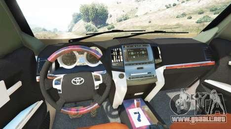 GTA 5 Toyota Land Cruiser Prado 2012 vista lateral trasera derecha