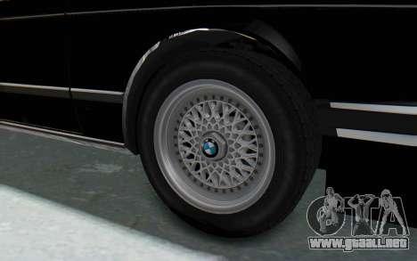 BMW M635 CSi (E24) 1984 IVF PJ3 para GTA San Andreas vista hacia atrás